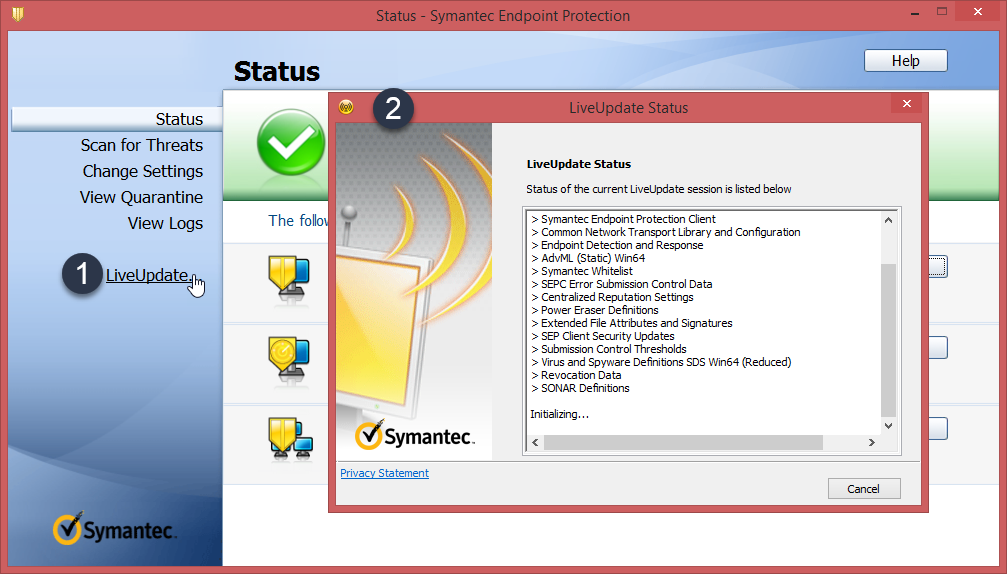 Symantec Endpoint Protection Live Update