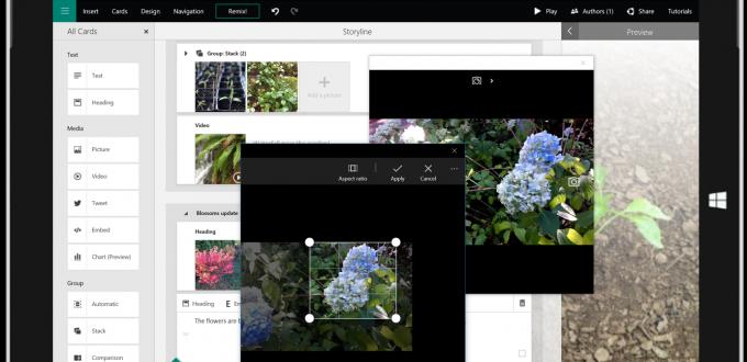 Sway presentation screen image