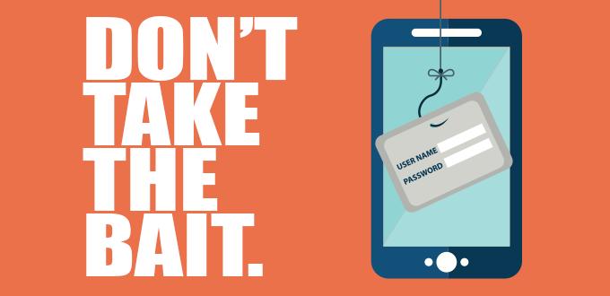 image - phishing don't take the bait