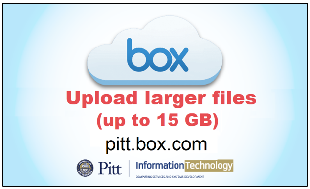 Upload files as large as 15 GB