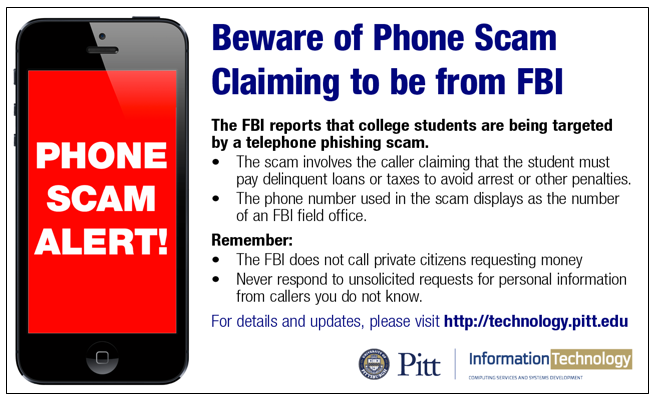 beware of telephone scam claiming to be from fbi | information