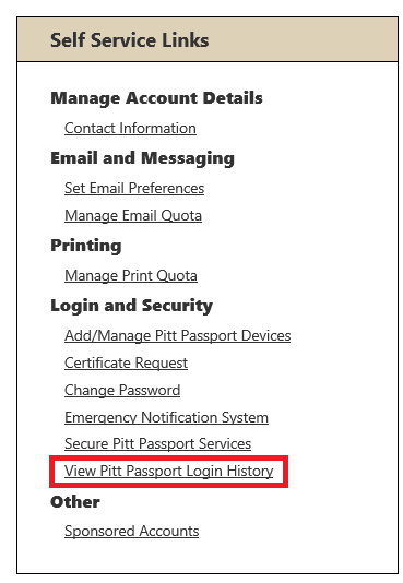 View your login history