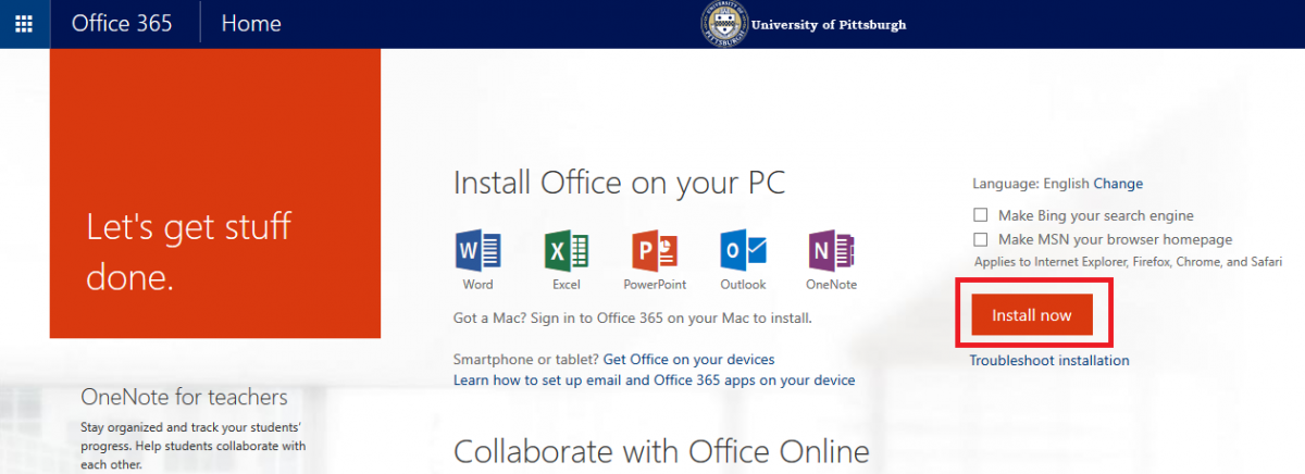 Install Office 365 ProPlus for Your Computer