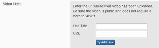 Add a link to your video