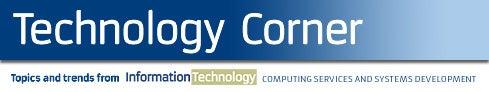 University Times Technology Corner banner