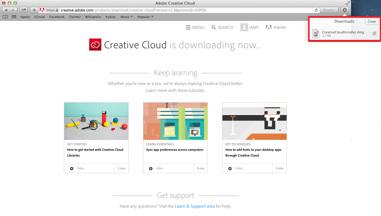 Install Adobe Creative Cloud on Windows or Mac | Information