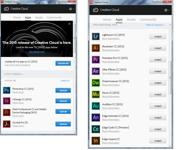 Install Adobe Creative Cloud on Windows or Mac | Information