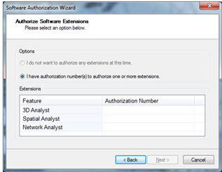 Installing and Activating ArcGIS Extensions   Information