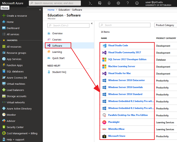 Microsoft Azure Dev Tools for Teaching Software