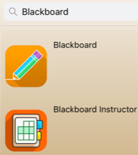 Blackboard and Blackboard Instructor mobile apps
