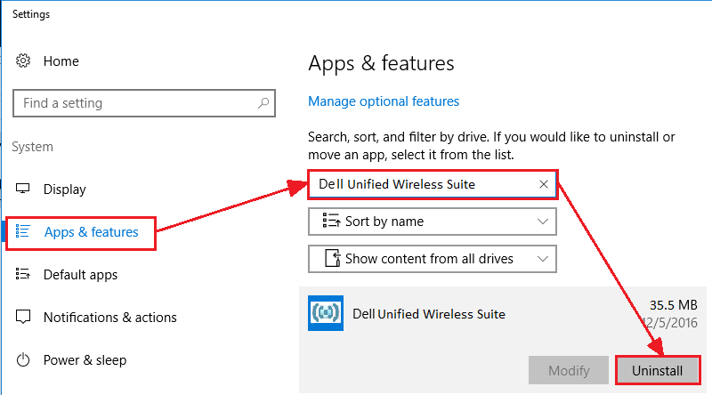 Uninstall Dell Unified Wireless Suite - screenshot 3