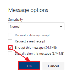 Settings to Encrypt Your Message