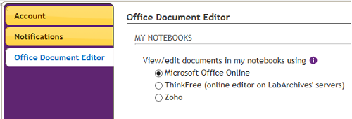 Office Document Editor for ELN