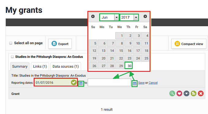 Select Date Ranges for Your Annual Report - screenshot 2