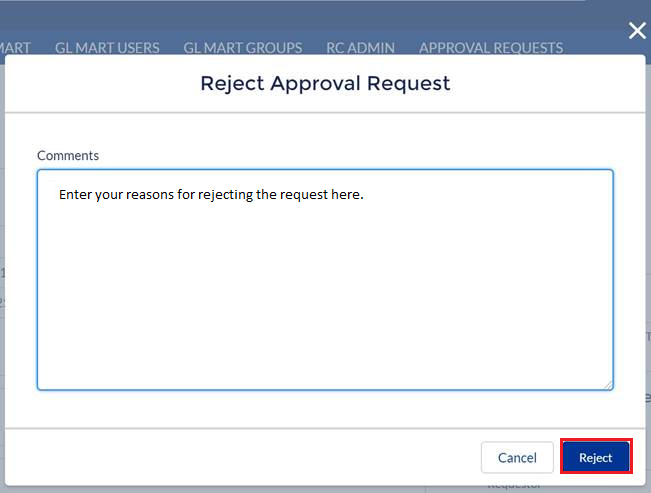 Add Comments as part of Denying an approval request.