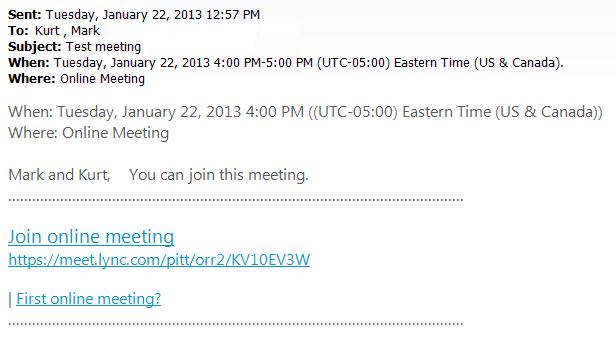 Skype for Business: Schedule a Meeting Through My Pitt (for Students ...