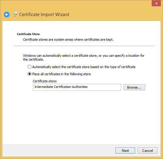 Installing the InCommon and UserTrust Certificates (Windows ...