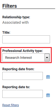 Location of research interests - screenshot 2