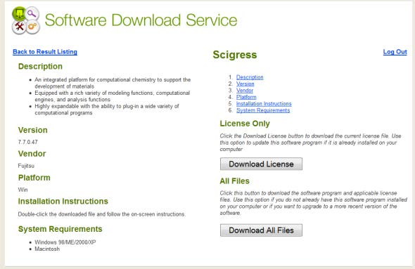 SCIGRESS download