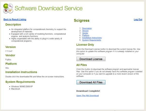 Installing Scigress | Information Technology | University of