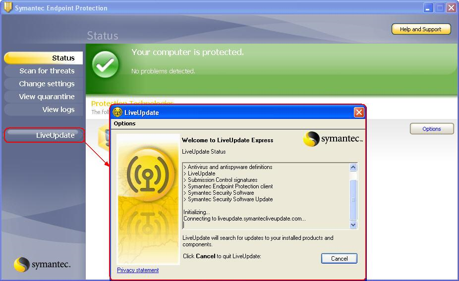 how to update symantec endpoint protection manager manually