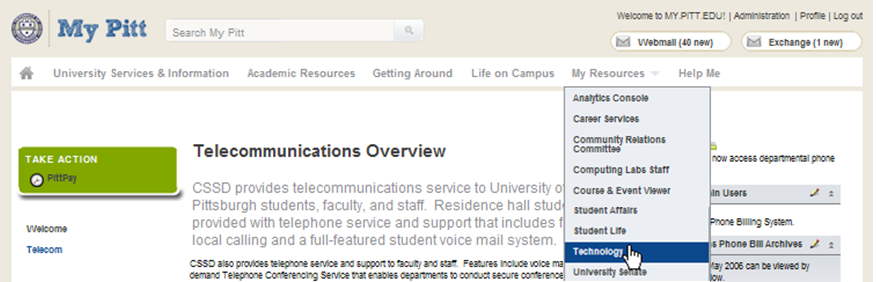 Telecom billing screenshot 1