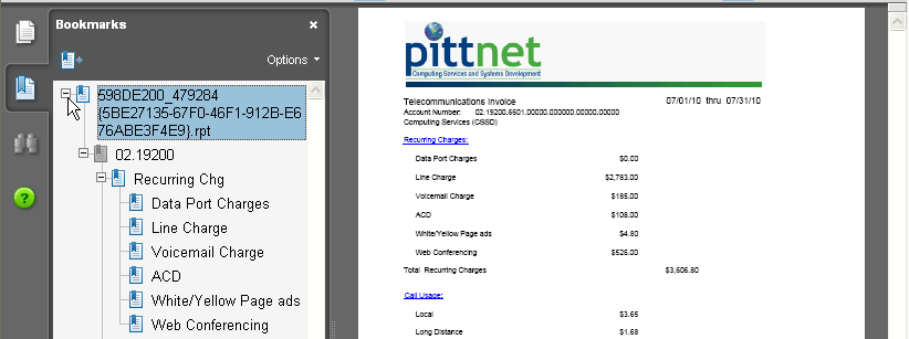 Telecom billing screenshot 16
