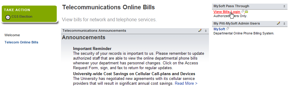 Telecom billing screenshot 3