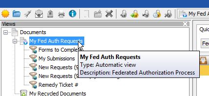 Web Now Folders with My Fed Auth Request Highlighted