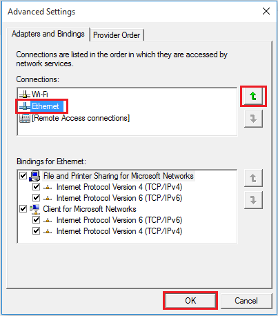 Ethernet Advanced Settings