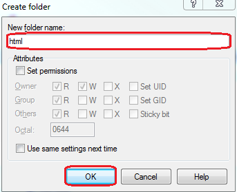 Create Folder Window