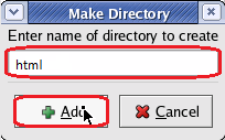 Make Directory Name Field