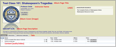 iTunes Album Page Example (56k)