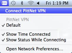 VPN Menu