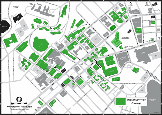Wireless Coverage Locations Information Technology University Of Pittsburgh