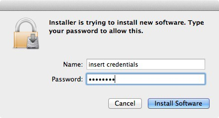 Click Install Software if prompted