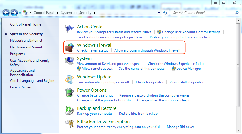 Windows 7 and 8 System and Security Options