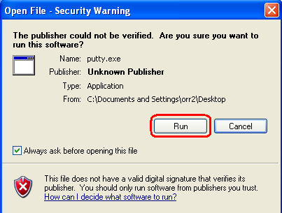 Security Warning Pop Up