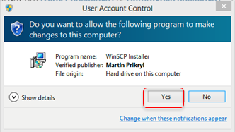 User Account Control Pop Up