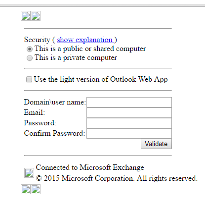 Outlook Web Access scam
