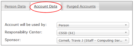 Account Data Tab