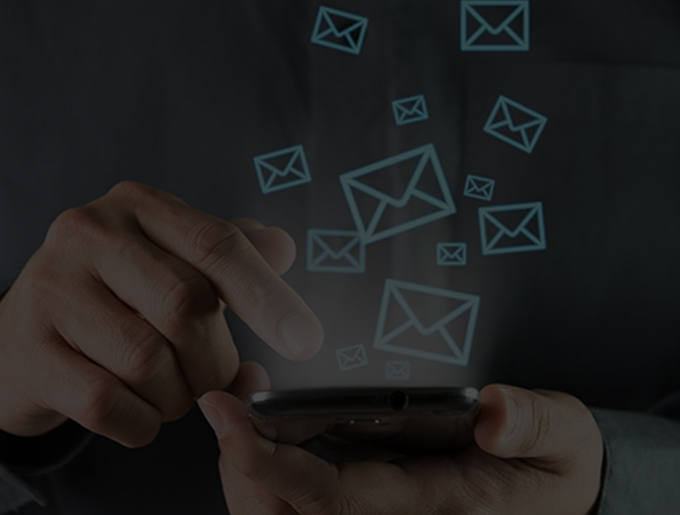 hand checking email