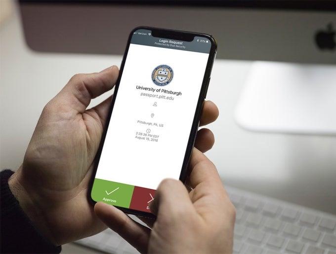 duo mobile app in phone