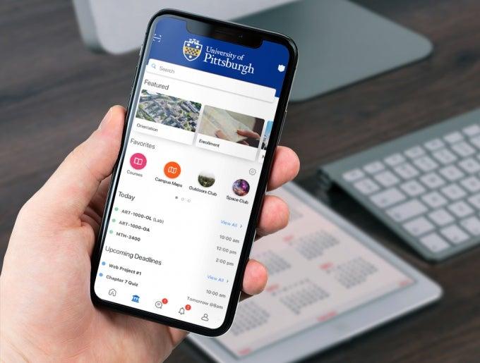 Pitt Mobile App on mobile phone