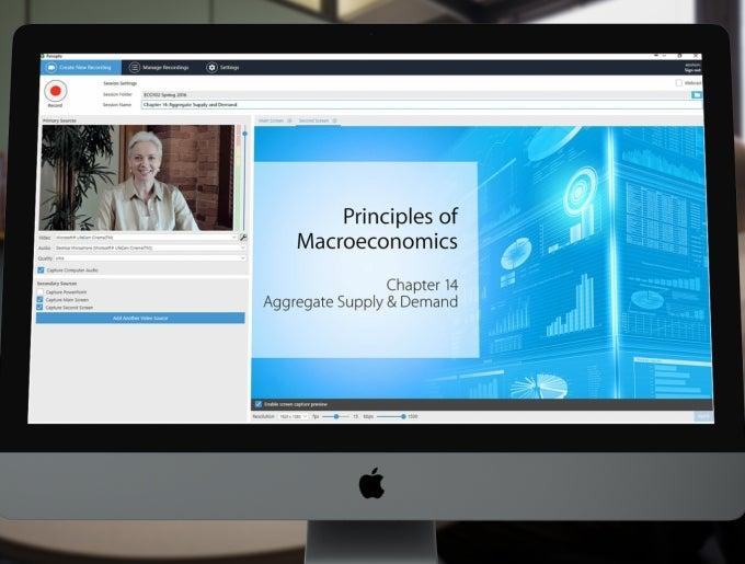 Lecture Capture (Panopto) screenshot