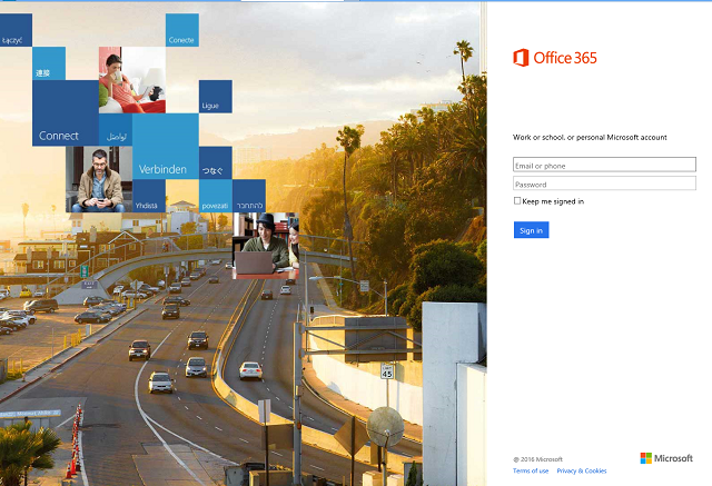Microsoft Office 365 phishing login