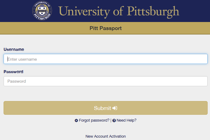 Pitt Passport Forgot Password
