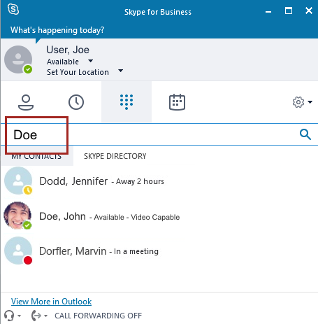 Skype for Business: Getting Started Managing Calls with the