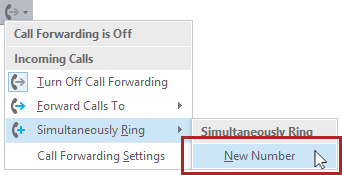 Go to Simultaneous Ring and New Number