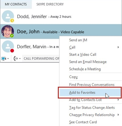Skype for Business: Advanced Calling Features Using the